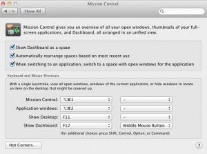 OS X Lion Hot Corner